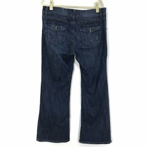 CAbi Bootcut Jeans Flap Pockets Distressed #876 16